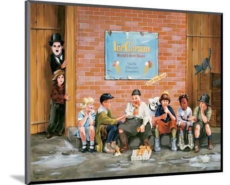Chaplin Kid Alley Ice Cream-Renate Holzner-Mounted Art Print