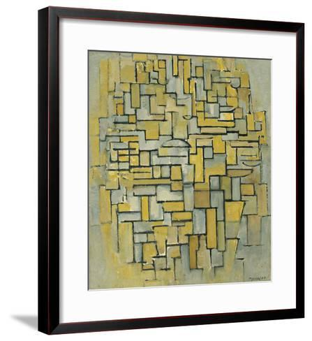 Composition in Brown-Piet Mondrian-Framed Art Print