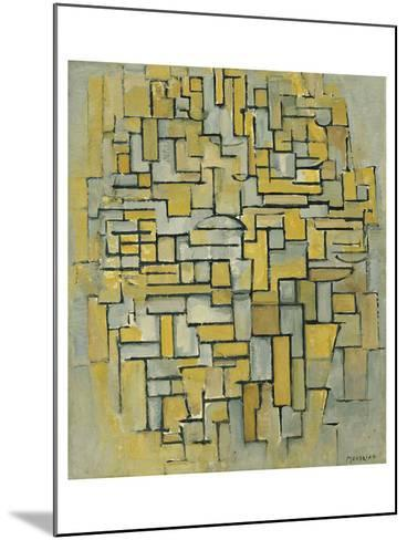 Composition in Brown-Piet Mondrian-Mounted Art Print