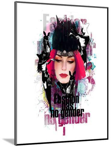 Fashion Has No Gender Collage--Mounted Art Print