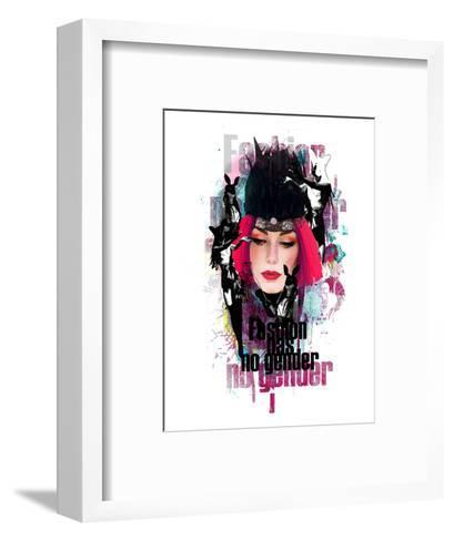 Fashion Has No Gender Collage--Framed Art Print