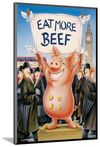 Eat More Beef-Renate Holzner-Mounted Art Print