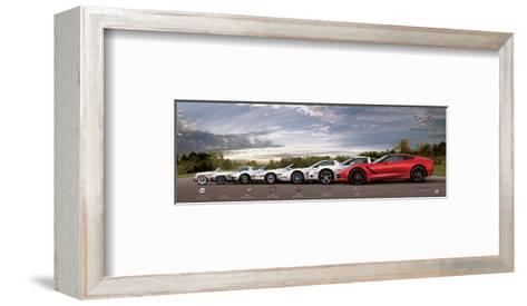 Gm Corvette Evolution--Framed Art Print