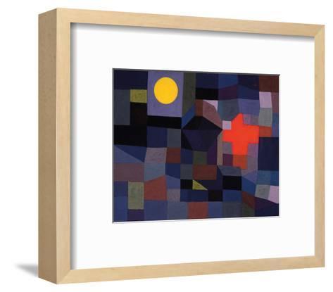 Fire at Full Moon 1933-Paul Klee-Framed Art Print