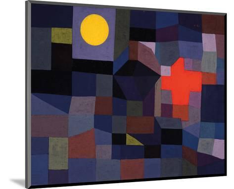 Fire at Full Moon 1933-Paul Klee-Mounted Art Print