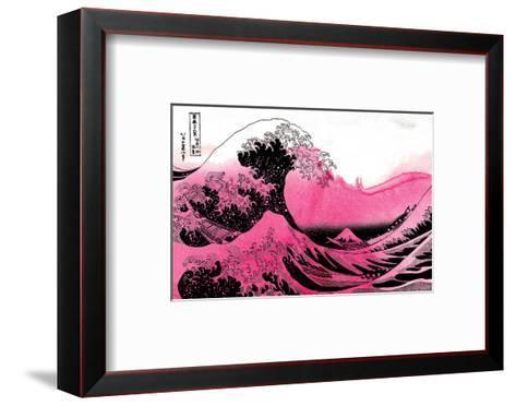 Hokusai - Pink Wave--Framed Art Print