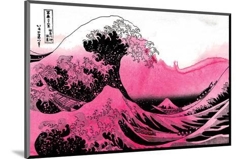 Hokusai - Pink Wave--Mounted Art Print