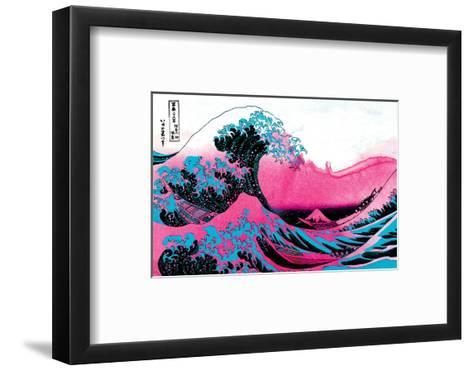 Hokusai - Pink Wave II--Framed Art Print