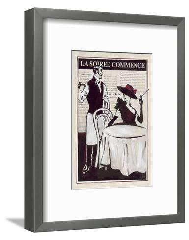 La Soiree Commence Restaurant-Rene Stein-Framed Art Print