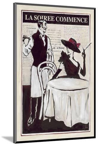 La Soiree Commence Restaurant-Rene Stein-Mounted Art Print