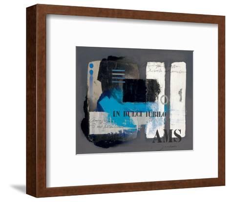 Look through the Blind-Joadoor-Framed Art Print