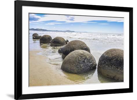 Moeraki Boulders New Zealand--Framed Art Print