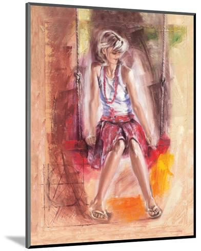 On the Swing-Talantbek Chekirov-Mounted Premium Giclee Print