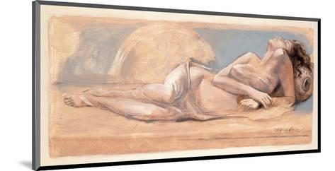 On the Swing-Talantbek Chekirov-Mounted Art Print
