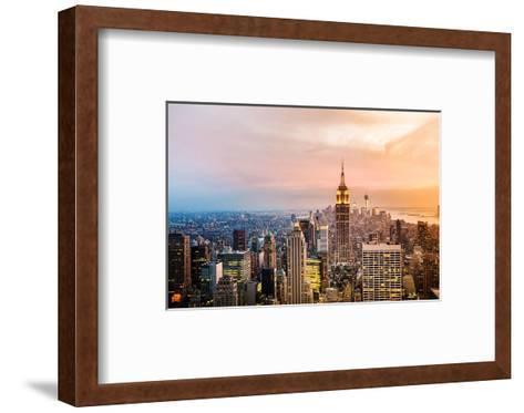 New York Skyline Sunset--Framed Art Print