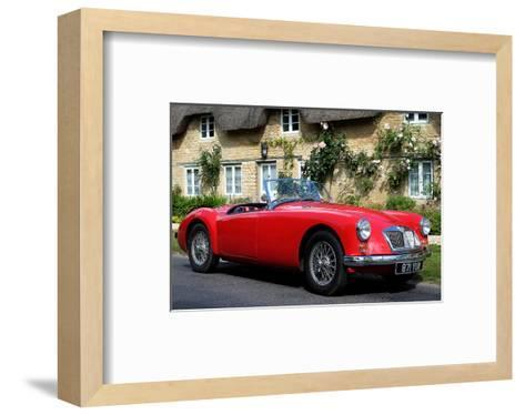 Red MG front side View--Framed Art Print