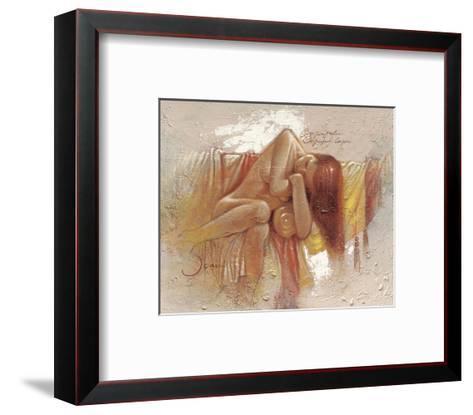 Relaxing-Joani-Framed Art Print