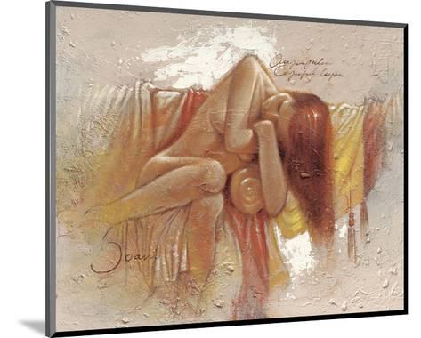 Relaxing-Joani-Mounted Art Print
