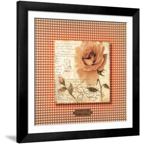 Orange Rose-Joadoor-Framed Art Print