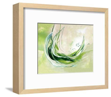 Plunge in-Lucy Cloud-Framed Art Print