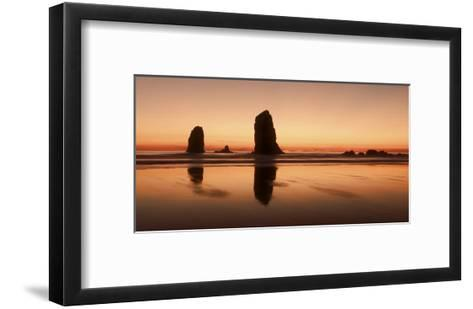 Pastel Evening on the Coast-Don Schwartz-Framed Art Print