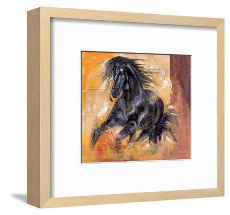 Powerful Arabian Beauty-Joadoor-Framed Art Print