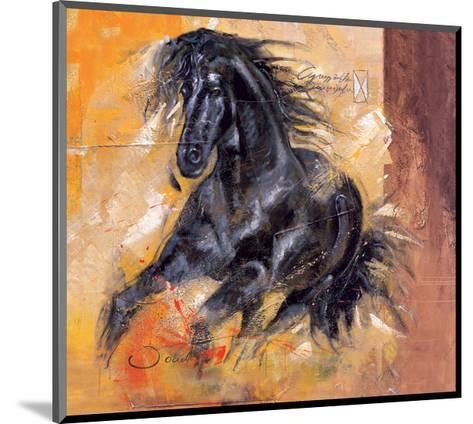 Powerful Arabian Beauty-Joadoor-Mounted Art Print