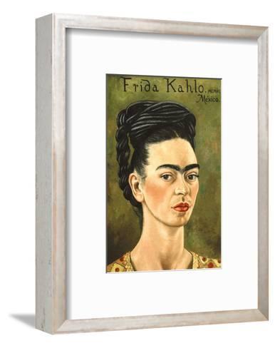 Portrait with Gold Dress-Frida Kahlo-Framed Art Print