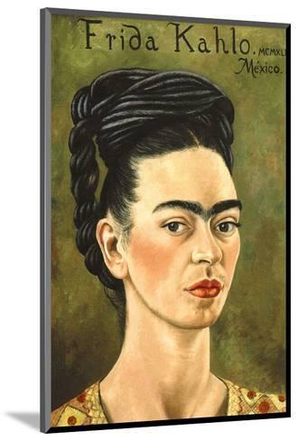 Portrait with Gold Dress-Frida Kahlo-Mounted Art Print