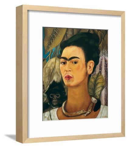 Portrait with Monkey1938-Frida Kahlo-Framed Art Print