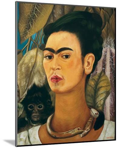 Portrait with Monkey1938-Frida Kahlo-Mounted Art Print