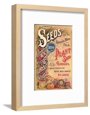Plant Seed Company St. Louis--Framed Art Print