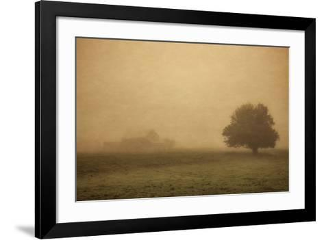 Schwartz - Foggy Barn-Don Schwartz-Framed Art Print