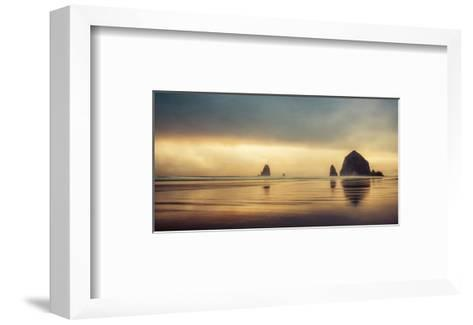 Schwartz - Haystack Sunset-Don Schwartz-Framed Art Print