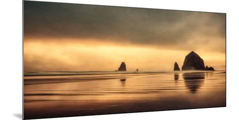 Schwartz - Haystack Sunset-Don Schwartz-Mounted Premium Giclee Print