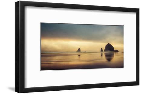 Schwartz - Haystack Sunset-Don Schwartz-Framed Art Print