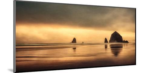 Schwartz - Haystack Sunset-Don Schwartz-Mounted Art Print