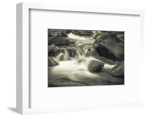 Schwartz - Blue Flowing-Don Schwartz-Framed Art Print