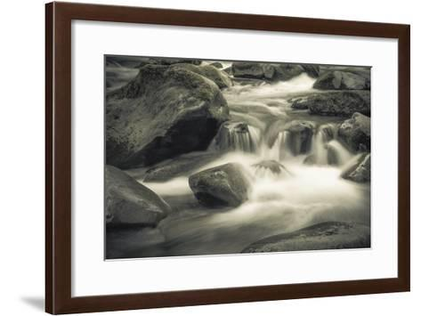 Schwartz - Blue Flowing-Don Schwartz-Framed Art Print