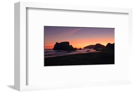 Schwartz - Oregon Coast Silhouette-Don Schwartz-Framed Art Print