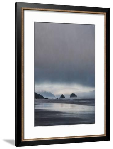 Schwartz - Sea Stacks at Sunset-Don Schwartz-Framed Art Print