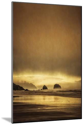 Schwartz - Sea Stacks at Sunset-Don Schwartz-Mounted Art Print