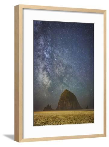 Sparkling Skies Over HaystacK-Don Schwartz-Framed Art Print