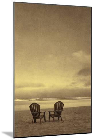 Schwartz - Two Beach Chairs-Don Schwartz-Mounted Premium Giclee Print
