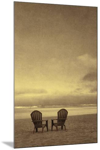 Schwartz - Two Beach Chairs-Don Schwartz-Mounted Art Print
