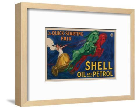 Shell Oil and Petrol--Framed Art Print