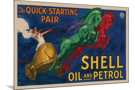 Shell Oil and Petrol--Mounted Premium Giclee Print