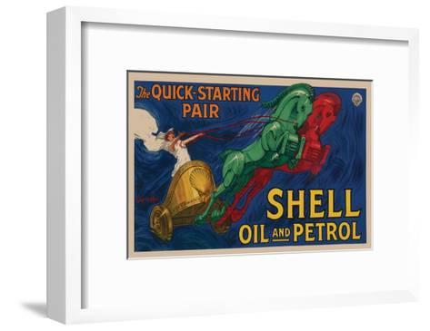 Shell Oil and Petrol--Framed Art Print