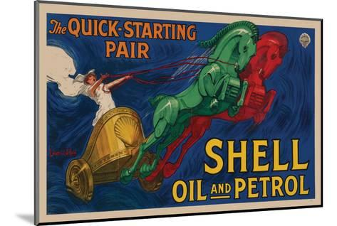 Shell Oil and Petrol--Mounted Art Print