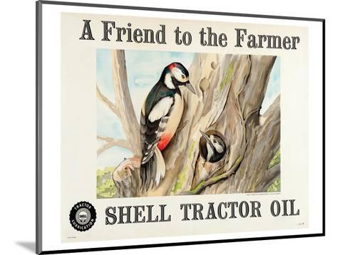 Shell Tractor Oil - Farmer--Mounted Art Print